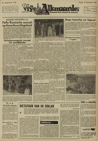 De Vrije Alkmaarder 1947-09-19