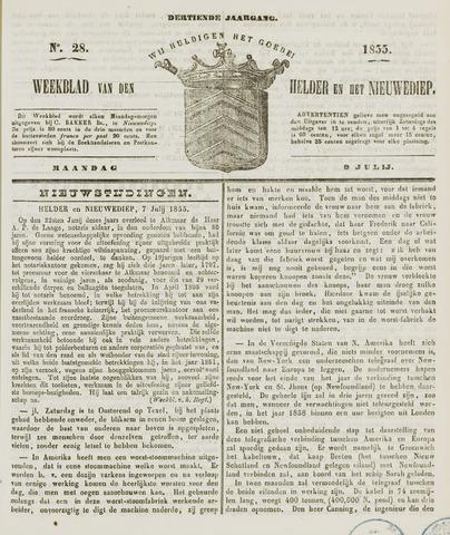 Weekblad van Den Helder en het Nieuwediep 1855-07-09