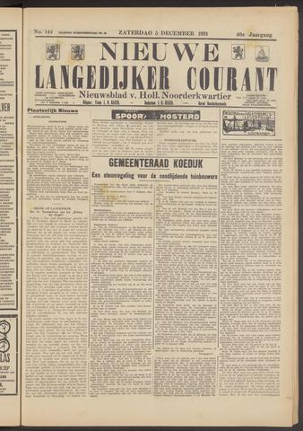 Nieuwe Langedijker Courant 1931-12-05