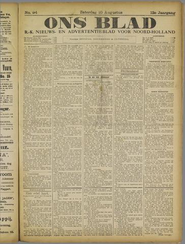 Ons Blad : katholiek nieuwsblad voor N-H 1918-08-10