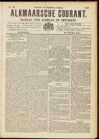 Alkmaarsche Courant 1907-02-19