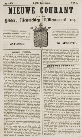 Nieuwe Courant van Den Helder 1865-08-26