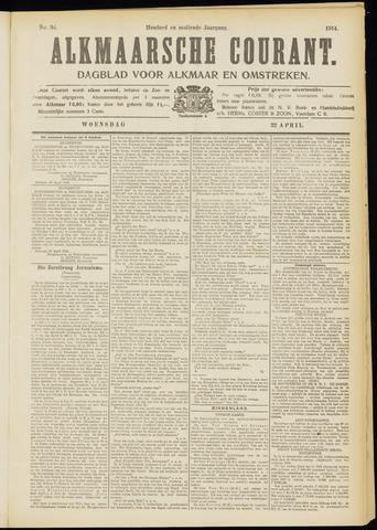 Alkmaarsche Courant 1914-04-22