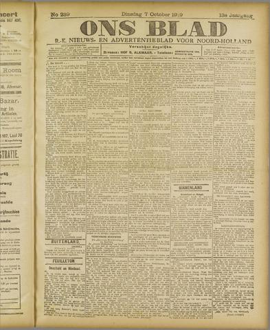 Ons Blad : katholiek nieuwsblad voor N-H 1919-10-07