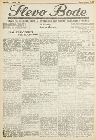 Flevo-bode: nieuwsblad voor Wieringen-Wieringermeer 1949-01-19