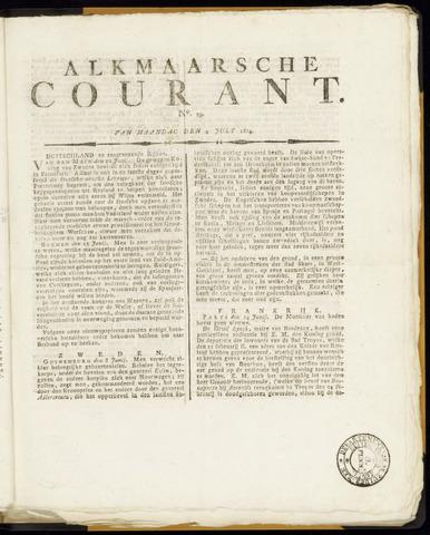 Alkmaarsche Courant 1814-07-04
