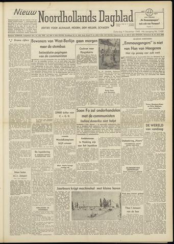 Nieuw Noordhollandsch Dagblad : voor Alkmaar en omgeving 1948-12-04