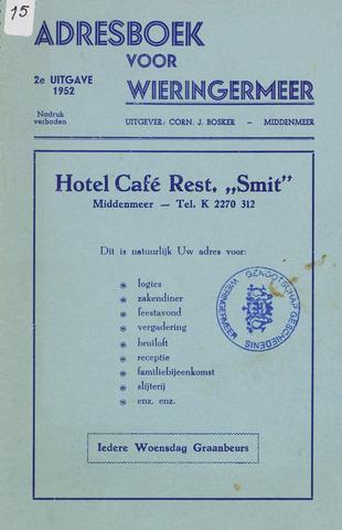 Adresboek van Wieringermeer 1952-01-01