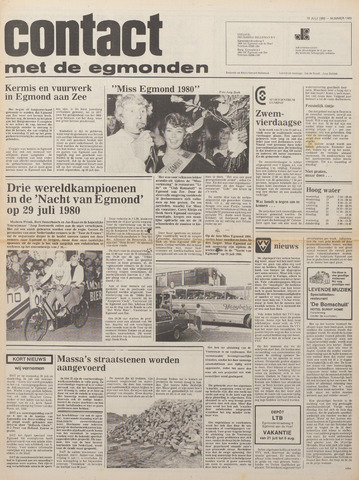 Contact met de Egmonden 1980-07-16