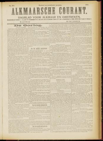 Alkmaarsche Courant 1915-11-22