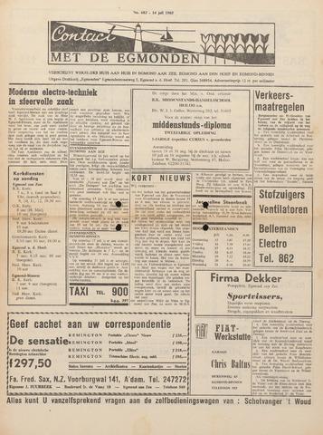 Contact met de Egmonden 1965-07-14