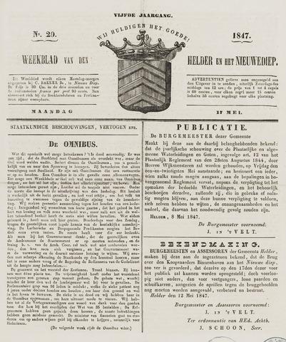 Weekblad van Den Helder en het Nieuwediep 1847-05-17