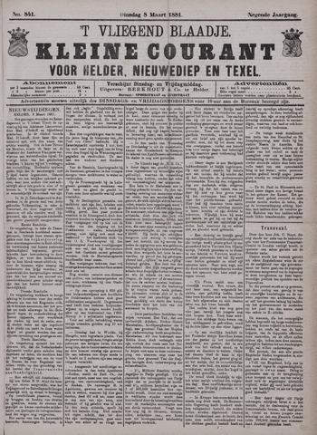 Vliegend blaadje : nieuws- en advertentiebode voor Den Helder 1881-03-08