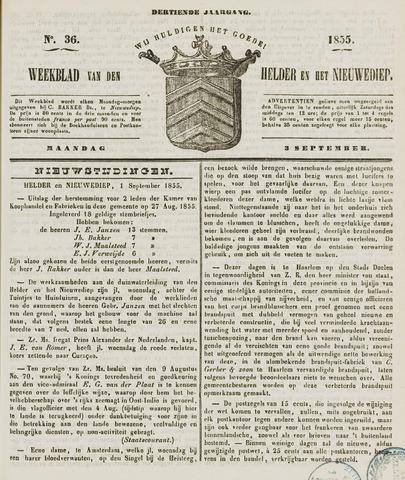 Weekblad van Den Helder en het Nieuwediep 1855-09-03