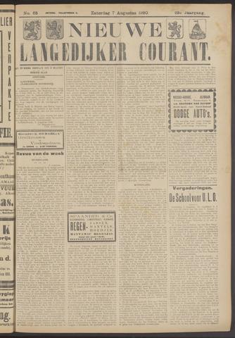 Nieuwe Langedijker Courant 1920-08-07
