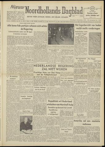 Nieuw Noordhollandsch Dagblad : voor Alkmaar en omgeving 1948-12-21