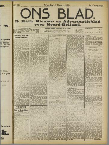 Ons Blad : katholiek nieuwsblad voor N-H 1913-03-08