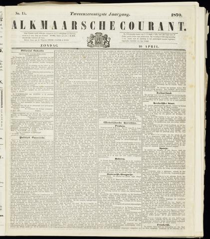 Alkmaarsche Courant 1870-04-10