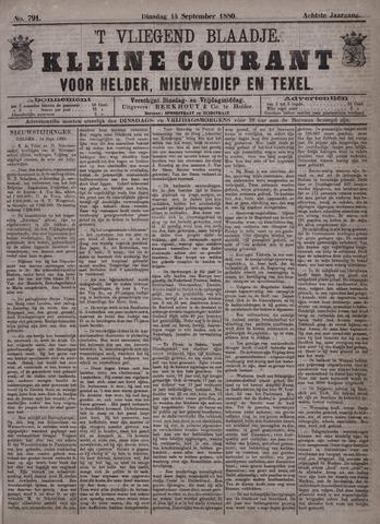 Vliegend blaadje : nieuws- en advertentiebode voor Den Helder 1880-09-14