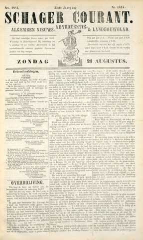 Schager Courant 1881-08-21