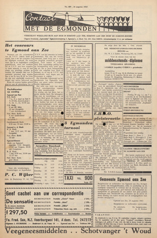 Contact met de Egmonden 1965-08-26