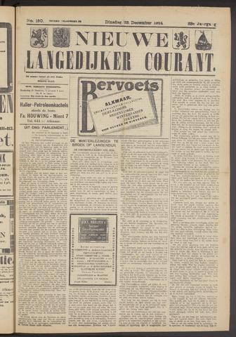 Nieuwe Langedijker Courant 1924-12-23