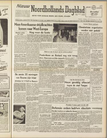 Nieuw Noordhollandsch Dagblad : voor Alkmaar en omgeving 1950-09-11