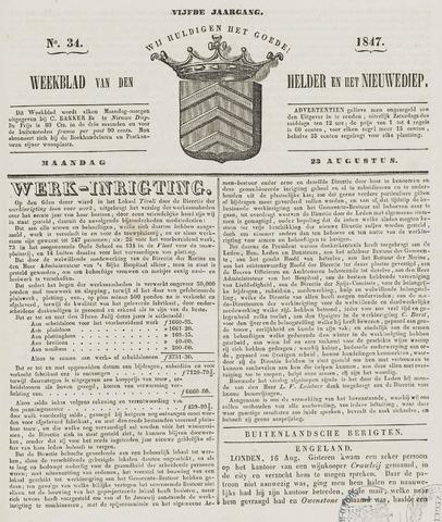 Weekblad van Den Helder en het Nieuwediep 1847-08-23