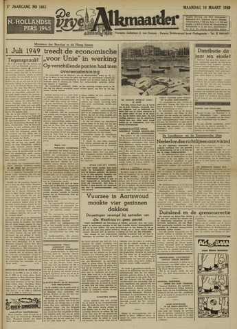 De Vrije Alkmaarder 1949-03-14