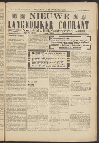 Nieuwe Langedijker Courant 1933-08-17