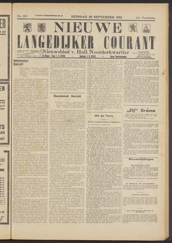 Nieuwe Langedijker Courant 1932-09-20