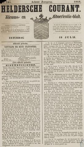 Heldersche Courant 1868-07-18