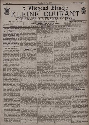Vliegend blaadje : nieuws- en advertentiebode voor Den Helder 1890-06-11