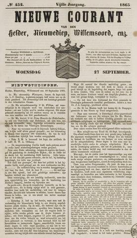 Nieuwe Courant van Den Helder 1865-09-27