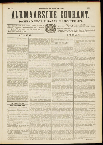Alkmaarsche Courant 1911-02-08