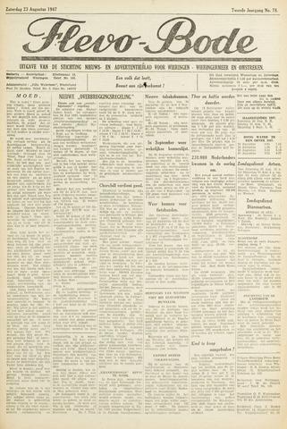 Flevo-bode: nieuwsblad voor Wieringen-Wieringermeer 1947-08-23