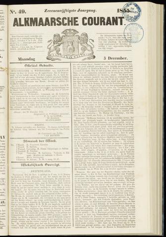 Alkmaarsche Courant 1855-12-03