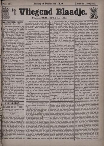 Vliegend blaadje : nieuws- en advertentiebode voor Den Helder 1879-12-09