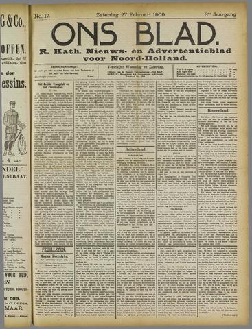 Ons Blad : katholiek nieuwsblad voor N-H 1909-02-27