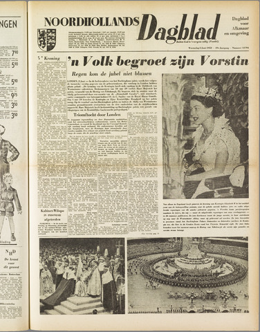 Noordhollands Dagblad : dagblad voor Alkmaar en omgeving 1953-06-03