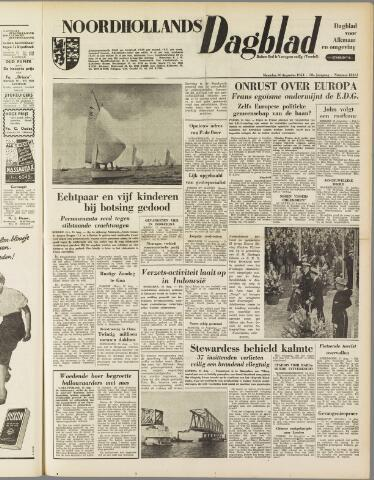 Noordhollands Dagblad : dagblad voor Alkmaar en omgeving 1954-08-16