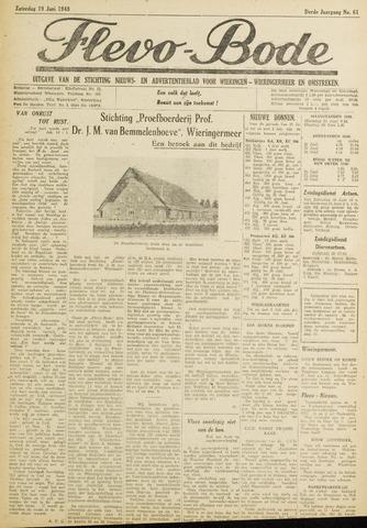 Flevo-bode: nieuwsblad voor Wieringen-Wieringermeer 1948-06-19