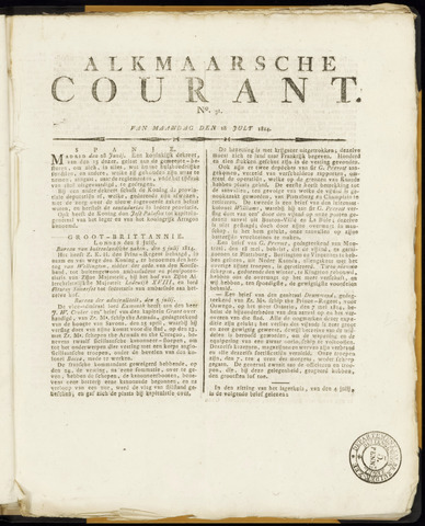 Alkmaarsche Courant 1814-07-18