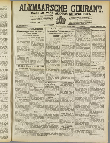 Alkmaarsche Courant 1941-08-20