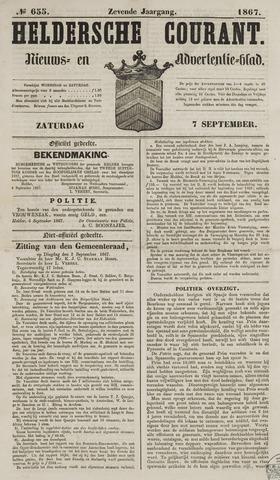 Heldersche Courant 1867-09-07