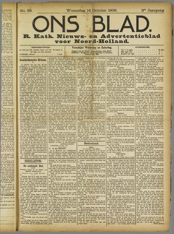 Ons Blad : katholiek nieuwsblad voor N-H 1908-10-14