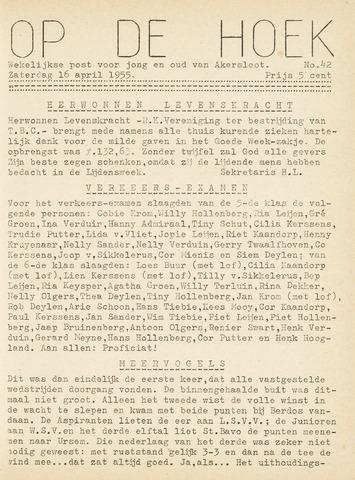 Op De Hoek, weekblad voor Akersloot 1955-04-16