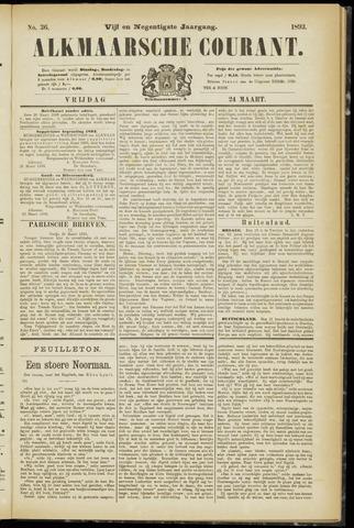 Alkmaarsche Courant 1893-03-24