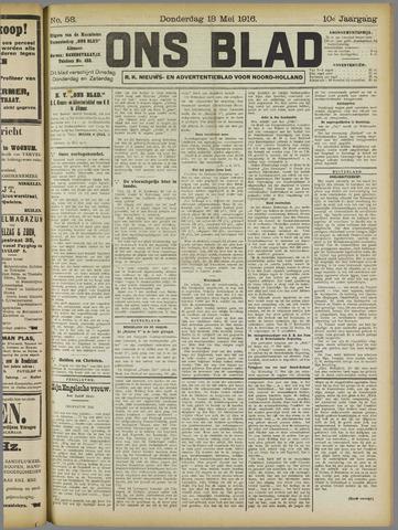 Ons Blad : katholiek nieuwsblad voor N-H 1916-05-18