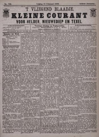 Vliegend blaadje : nieuws- en advertentiebode voor Den Helder 1880-02-13